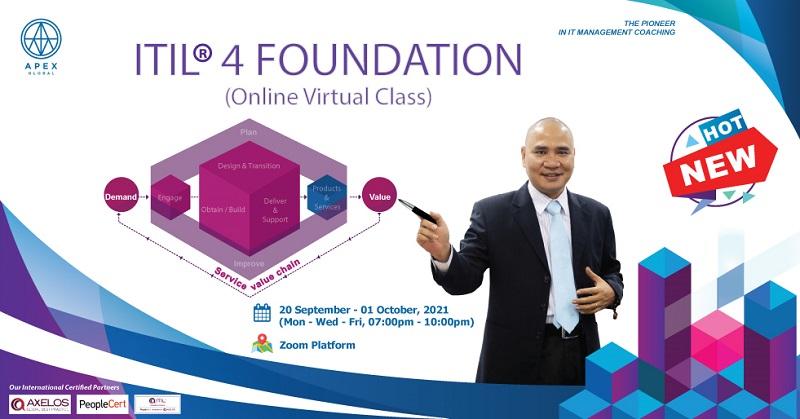 Khóa đào tạo ITIL 4 Foundation Online Virtual Class tháng 09/2021