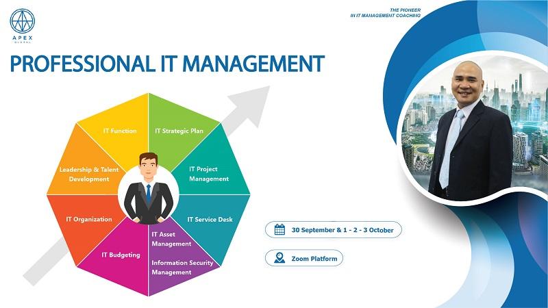 Chiêu sinh khóa đào tạo Professional It Management – Online Virtual Class tháng 9