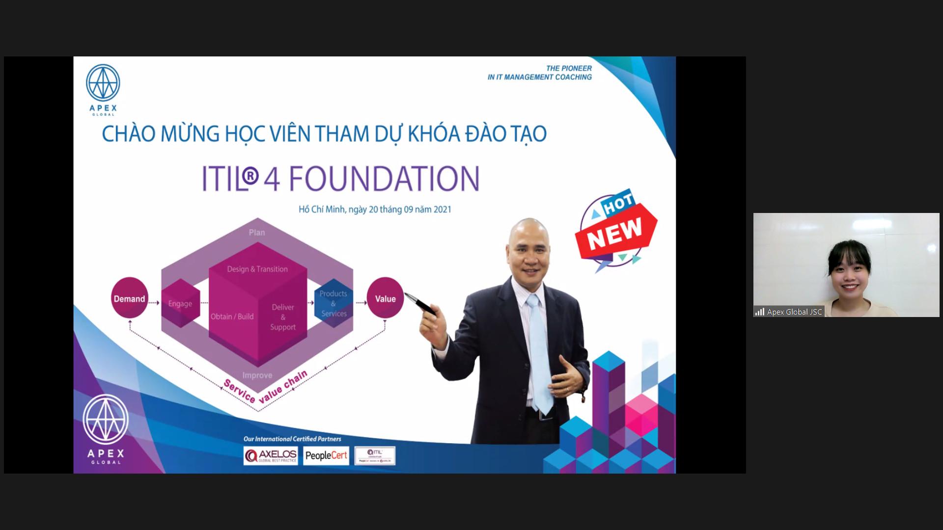 Khai giảng khóa đào tạo ITIL 4 Foundation Online Virtual Class tháng 09/2021