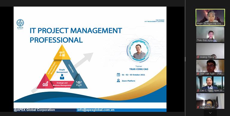 Khai giảng Khóa đào tạo Quản lý dự án CNTT chuyên nghiệp Online Virtual Class 2021